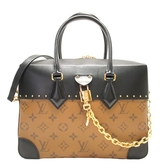 LOUIS VUITTON 路易威登 原花帆布金色鎖頭手提肩背 City Malle MM M43595 BRAND OFF