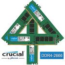 【免運費】美光 Micron Crucial DDR4-2666 128GB = 32GB x 4 桌上型 記憶體 原生2666系列 128G