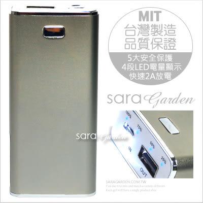 台灣製造 鋁合金迷你行動電源 5000mah【太空灰】