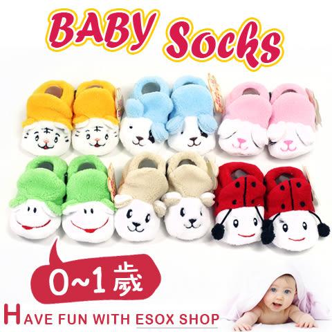 JunTai 厚厚保暖動物鞋型寶寶襪-止滑款│柔軟舒適 兒童襪/嬰兒襪/止滑襪/防滑襪/學步襪