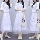 旗袍改良款連身裙女夏裝2020年新款漢服女民國風裙子仙女超仙森系 FX7012 【MG大尺碼】