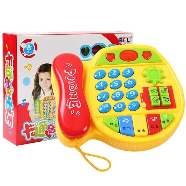 兒童音樂電話玩具 寶寶學習電話機 仿真電話 音樂電話車 聲光玩具 5029 益智玩具