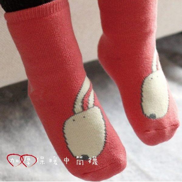 【JB0034】日本外貿 寶寶 四季 毛圈保暖襪 動物造型襪 嬰兒襪 居家鞋 外出襪(6-12M/12-24M)