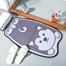 吸水踏墊 加厚動物卡通造型彈性 防滑 止...