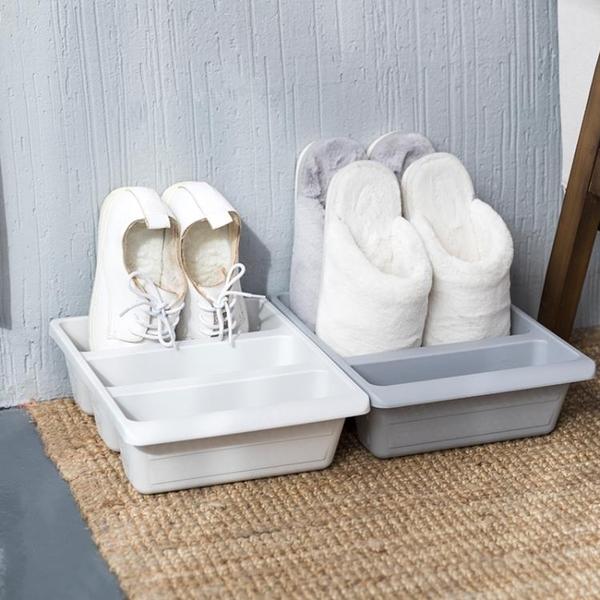 2個裝簡約立式鞋架3格收納鞋托鞋子收納盒節省空間鞋櫃整理架 新年禮物