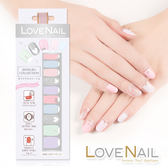 【LOVE NAIL】持久指甲油貼-水鑽珠寶盒系列(雪霜粉彩糖鑽Frosting Diamond)