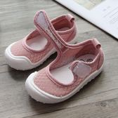 女童鞋子2019春季新品韓國3-6歲寶寶公主單鞋幼兒園室內鞋帆布鞋【快速出貨】
