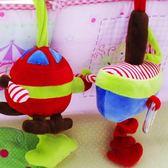 嬰兒玩具音樂床鈴拉鈴新生兒寶寶床掛毛絨布藝帶搖鈴BB器【萬聖節88折
