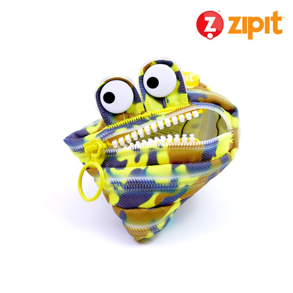Zipit 怪獸拉鍊包迷彩系列(小)-迷彩黃