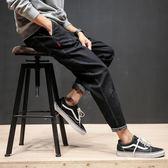 破洞水洗牛仔褲 大碼修身小腳褲男褲子【非凡上品】cx775