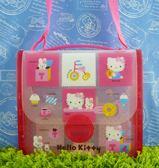 【震撼精品百貨】Hello Kitty 凱蒂貓~防水側背包~腳踏車【共1款】
