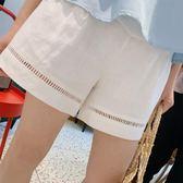 孕婦棉麻短褲女夏裝寬鬆外穿闊腿褲子2019夏季薄款大碼托腹打底褲 寶貝計書