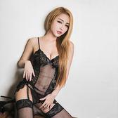 性感睡衣 黑色網紗四件式長馬甲組 性感情趣內睡衣 【SV8327】快樂生活網