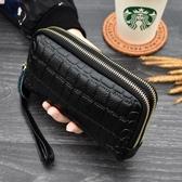 新款雙層手拿包女士零錢包歐美時尚手機包迷你小包拉鏈包