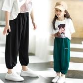 2019夏季新款女童洋氣綿綢燈籠休閒褲寬鬆薄款防蚊褲兒童長褲子潮 嬌糖小屋