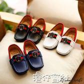 兒童皮鞋男孩鞋子春季小童英倫風豆豆鞋男童單鞋透氣軟底