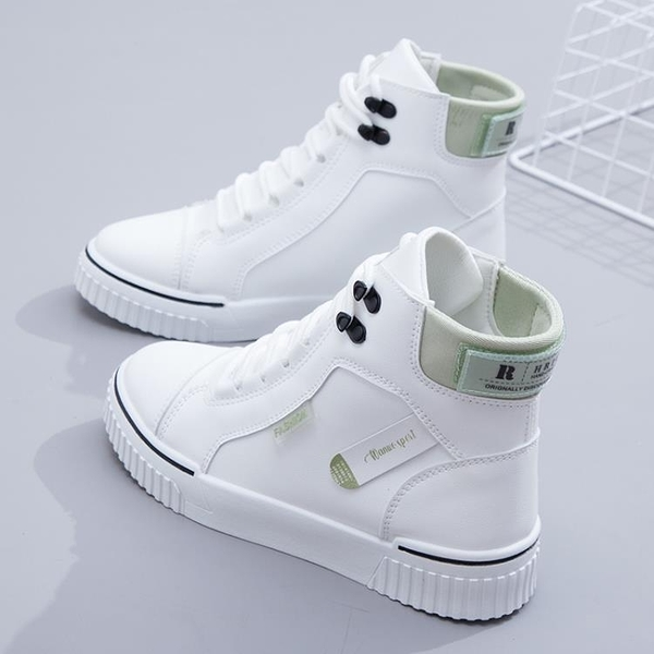 2020年冬季新款高幫鞋女學生百搭小白女鞋秋冬運動雪地靴棉鞋加絨 後街五號