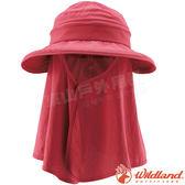 Wildland 荒野 W1035-32深粉紅 中性抗UV調節式遮陽帽 防曬工作帽/登山休閒帽/漁夫帽/大圓遮陽帽*
