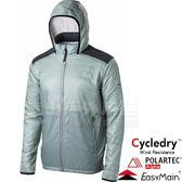 EasyMain衣力美 CE17095-714淺灰綠 男動態保暖透氣外套 Polartec防寒防風/戶外機能夾克/連帽風衣*