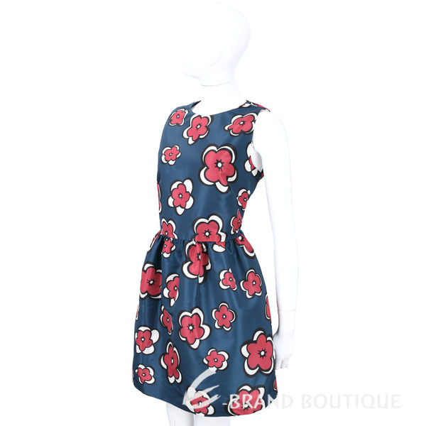 RED VALENTINO 藍色印花無袖洋裝 1540242-23