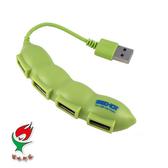[富廉網] 嘻哈部落Seehot (SH-H401) 【豌豆造型】USB 2.0 4埠集線器