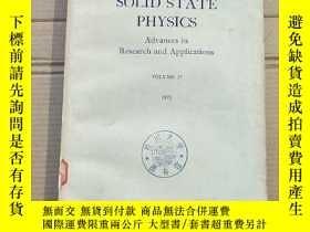 二手書博民逛書店solid罕見state physics volume 27(P1980)Y173412