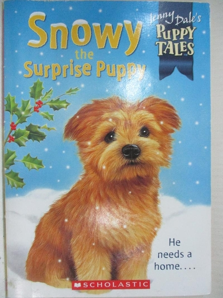 【書寶二手書T3/少年童書_HA8】Snowy the Surprise Puppy_Jenny Dale