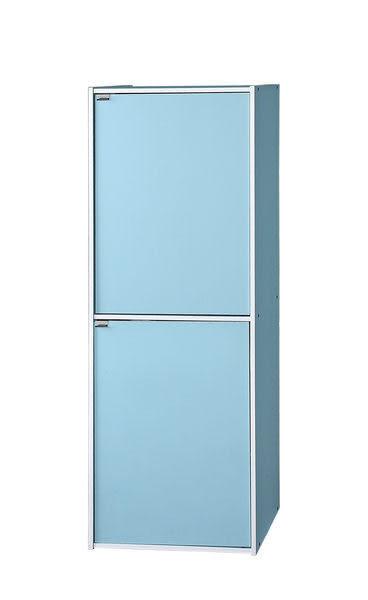 [家事達]台灣SA -#42B 粉彩藍四格二門櫃 - 特價