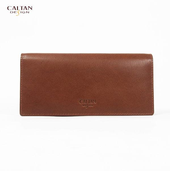 牛皮/長夾【CALTAN】簡約俐落兩折真皮長夾-074128cd