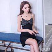 夏裝新款2020年韓版修身顯瘦氣質打底性感吊帶洋裝女神范時尚連身裙 yu12438『俏美人大尺碼』