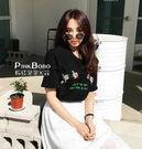 【預購】復古刺繡花朵T卹 寬鬆純棉休閒短袖棉T 女 G36744