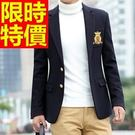 西裝外套新款氣質-典型正韓灑脫修身男西服(單件外套)5色59t4【巴黎精品】