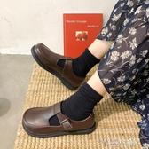 新品娃娃鞋復古小皮鞋女百搭大頭娃娃學生韓版圓頭軟妹原宿風 芊墨左岸