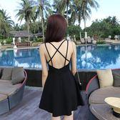 洋裝—泰國海邊沙灘裙性感吊帶連身裙露背夏季新款修身顯瘦短裙 依夏嚴選