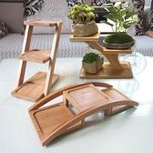 桌面多層小花架綠蘿多肉實木飄窗台陽台客廳辦公室內迷你花盆架子 陽光好物