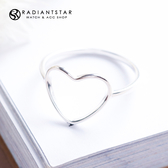 [925純銀]精雕愛情鏤空愛心戒指【SL496】璀璨之星☆