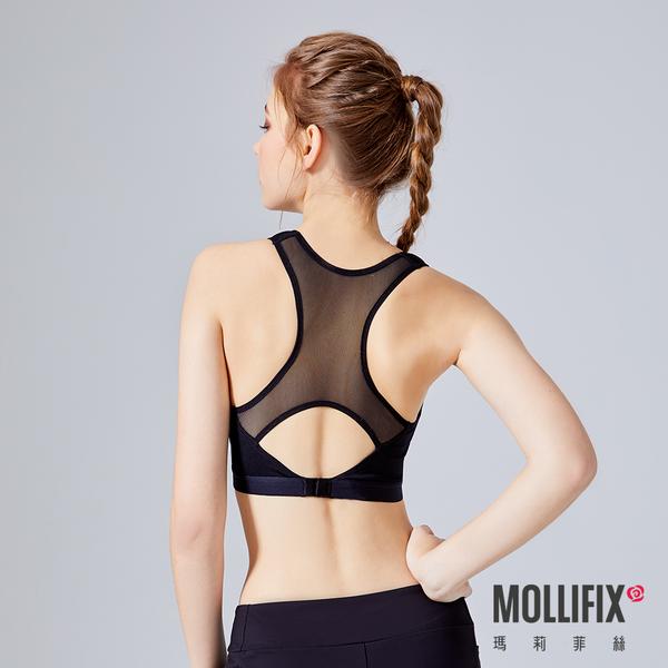 Mollifix瑪莉菲絲 軟鎧甲 跳躍緩衝美胸運動BRA (黑)