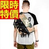 尼龍側背包-萬用可肩背方便多功能男女郵差包2色57b29【巴黎精品】