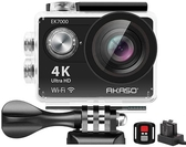 AKASO【美國代購】4K WiFi 運動攝影機 12MP超高畫質防水170度廣角EK7000 - 黑色
