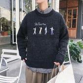 毛衣男士半高領厚款冬季2019秋冬寬鬆韓版潮流新款學生個性針織衫