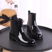 雨靴雨鞋女短筒韓國可愛成人膠鞋時尚款外穿水鞋雨靴防水套鞋保暖 麗人印象 全館免運