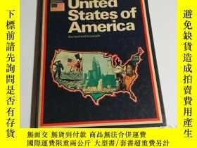 二手書博民逛書店United罕見States of America(外文原版 書