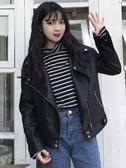 皮衣外套 小皮衣女2019初秋新款韓版學生寬鬆pu皮夾克機車短款外套長袖上衣 雙12