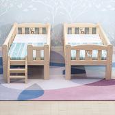 實木兒童床男孩單人床女孩公主床邊床加寬小床帶護欄嬰兒拼接大床