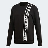 ADIDAS CB THE 90S BRD HOODIE 黑 白 串標 直條logo 棉 長袖 T恤 男(布魯克林) EI5617