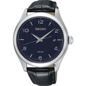 SEIKO 精工 SOLAR 太陽能日系紳士時尚手錶-藍/42mm V157-0CN0B(SNE491P1)