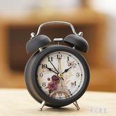 靜音學生創意床頭簡約時尚多功能電子帶夜燈金屬打鈴鬧鐘鬧鈴時鐘xy3747『東京潮流』