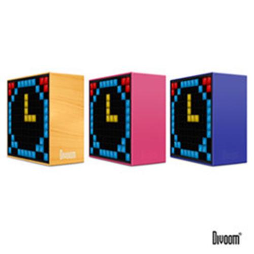 DIVOOM TimeBox 智能LED音樂鬧鐘(藍牙喇叭)-TIMEBOX_PK魔力粉@四保