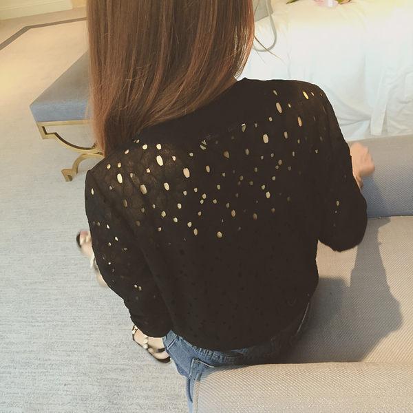 DE SHOP~簍空蕾絲防曬短款薄外套   (N-458)