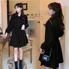 【QV3209】魔衣子-純色前排釦假口袋...